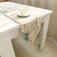 Square Floral Patterned Table Runner , Cotton Blend Material Hotel Dining Table Table Decoration