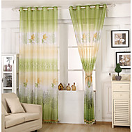 One Panel Curtain Modern , Leaf Kids Room Poly / Cotton Blend Material Sheer Curtains Shades Home Decoration For Window