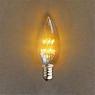 1W E14 Dekoratív C35 20 Dip LED 40 lm Sárga Dekoratív AC 220-240 V 1 db.
