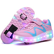 LED Light Up Shoes, Kid Boy Girl wheely's Roller Shoes / Ultra-light Two Wheel Skating Shoes / Athletic / Casual  Shoes Blue Pink