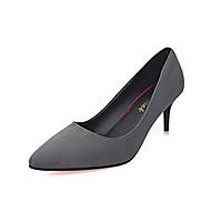 Women's Heels Spring Summer Fall Comfort PU Casual Low Heel Black Green Gray Other