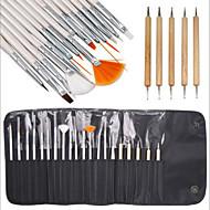 15pcs nail art peinture design stylo dessin brosse réglée avec 5pcs parsemant Marbleizing outil plume