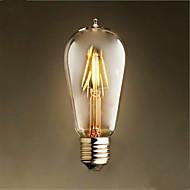 4W E26/E27 Izzószálas LED lámpák ST58 4 SMD 2835 400 lm Meleg fehér Dekoratív AC 220-240 V 1 db.