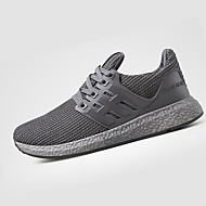 Sneakers-PU-Komfort-Herre-Sort Blå Grå-Fritid-Flad hæl