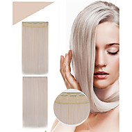 fasjonable 1 stk kvinners syntetisk hår extensions 24inch 120g # 613 lange rette 5clips hår klippet i rett