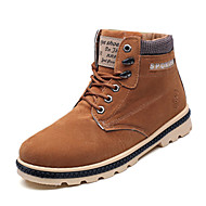 Kényelmes-Alacsony-Női cipő-Csizmák-Alkalmi-PU-Fekete Kék Sárga