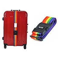 jó minőségű szivárvány színű állítható poggyász bőrönd sáv kötődnek öv jelszóval zár úti bőrönd heveder csomagtér szíj