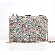 Women PU Formal/Event/Party Office Career Evening Bag  Butterfly Crystal Clutch Bags  Wedding The Shells Colorful Stones