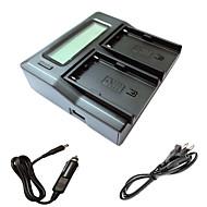 ismartdigi bpu90 LCD dual punjač s auto naboja kabel za Sony ex1r ex160 ex260 ex280 fs5 fs7 kamera batterys