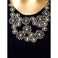 נשים שרשראות הצהרה Flower Shape סגסוגת מתכווננת בז' תכשיטים ל Party יומי 1pc