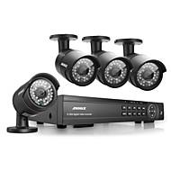 annke® 16 canais HDMI hd 1080p DVR 4pcs outdoor ir sistema de câmera de segurança de vídeo doméstico