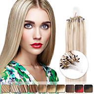 neitsi 20 '' 50g egyenes mikro gyűrű hurok kapcsolatok ombre emberi haj kiterjesztések 1g / s 100% Remy haj