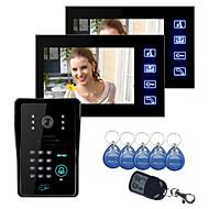 """Toque Chave LCD de 7 """"vídeo porteiro Intercom Sistema Wth IR Camera & Code Teclado 1V2"""