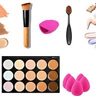 15 Korektor/ContourLabutěnka/Houbička Beauty blender / Štetce na líčení mokrý FaceKapsamı / Korektor / Sjednocuje tón pleti / Přírodní /
