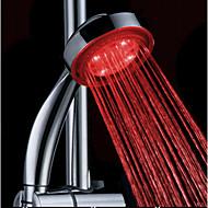 Vanddrevne farveskiftende ABS LED håndbruser