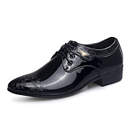 Men's Oxfords Spring Summer Fall Winter Comfort PU Casual Athletic Flat Heel Lace-up Black Brown