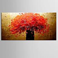 מצויר ביד מופשט / טבע דומם ציורי שמן,מודרני / קלאסי פנל אחד בד ציור שמן צבוע-Hang For קישוט הבית