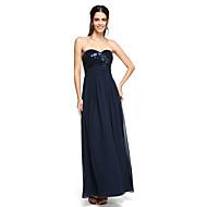 LAN TING BRIDE Floor-length Spaghetti Straps Bridesmaid Dress - Sparkle & Shine Sleeveless Chiffon Sequined