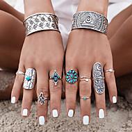 Midi prstenje Tirkiz Tirkiz Legura Flower Shape Izrezbaren Moda Pink Jewelry Party Halloween Dnevno Kauzalni 1set