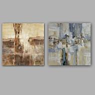 Ručně malované Abstraktní olejomalby,Moderní / Klasický Dva panely Plátno Hang-malované olejomalba For Home dekorace