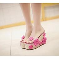 Damen-Slippers & Flip-Flops-Lässig-PVCKomfort-Schwarz / Blau / Rosa / Weiß / Grau