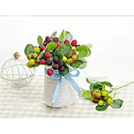 """1 ענף משי / סיליקה ג'ל צמחים / פירות פרחים לשולחן פרחים מלאכותיים Total High:10.5"""""""