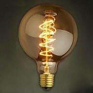 חוט G125 סביב 40W נורות אדיסון הנורה קישוט רטרו הנורה אדיסון הנורה טונגסטן פנינת בר