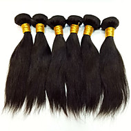 Top Grade 6Pcs/Lot 8-30 Peruvian Virgin Straight Hair Natural Black Human Hair Weave Hot Sale.