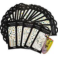 1pack, 1design Nail Art Sticker Autocolantes de Unhas 3D maquiagem Cosméticos Prego Design Arte