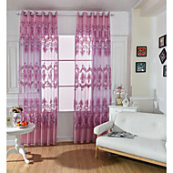 One Panel Curtain European Living Room Polyester Material Sheer Curtains Shades Home Decoration For Window