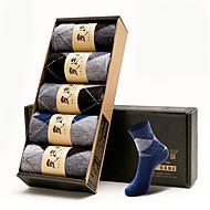 5 זוגות גרביים שחורים windproof / כחול / לבן / אפור