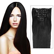 grampo de cabelo brasileiro no clipe de extensões 70g-120g no brasileiro extensões de cabelo grampo em extensões de cabelo humano