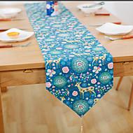 מלבני מעוטר / פרחוני ראנר לשולחן , פשתן חוֹמֶר שולחן אוכל במלון / שולחן Dceoration