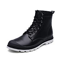 Bootsit-Tasapohja-Miesten-Tekonahka-Musta Ruskea Harmaa-Ulkoilu Toimisto Rento-Comfort