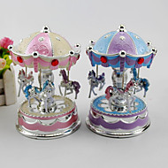 1PC Flash Carousel Music Box Fashion Home Decoration Indoor Exquisite Music Box