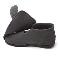 Men's Loafers & Slip-Ons Spring Winter Comfort Wool Outdoor Office & Career Casual Flat Heel Magic Tape Black Gray Walking