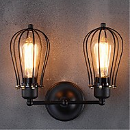 AC 220V-240V 40W E26/E27 Retro Grapefruit American Village Iron Antique Restaurant Corridor Aisle Wall Lamp Wall Light