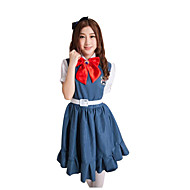 Cosplay Costumes Party Costume Career Costumes Student/School Uniform Festival/Holiday Halloween Costumes Black Ink Blue SolidSkirt