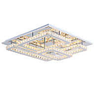 Modern Led Ceiling Light Flush Mount Transparent Crystal Stainless Steel 90-265V for Living Room Bed Room Hallway