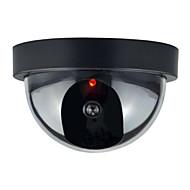 1pc exterior CCTV falso câmera de segurança cúpula manequim interior com flahsing vermelho levou luz