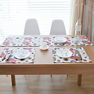 Rectangular Patterned Table Runner , Cotton Blend Material Hotel Dining Table / Table Decoration