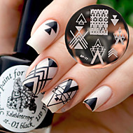 BORN PRETTY BP77 Nail Art Image Stamping Plates Geometry Negative Space Design