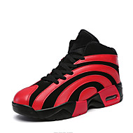 Красный Белый-Женский-Повседневный-Полиуретан-На плоской подошве-Удобная обувь-Спортивная обувь