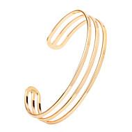 Armbänder Armreife / Manschetten-Armbänder Aleación Geburtstag / Hochzeit / Party / Normal Schmuck Geschenk Goldfarben / Silber,1 Stück