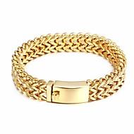 Kalen New 316 Stainless Steel Link Chain Bracelets High Polished 18K Dubai Gold Plated Mesh Bracelets For Men Cool Accessory Gift