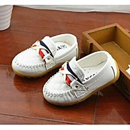 Boys' Loafers & Slip-Ons Comfort PU Casual Comfort White Black Yellow Blue Flat