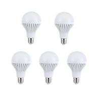 9W E26/E27 Круглые LED лампы A60(A19) 15 SMD 5630 330-360 lm Тёплый белый / Естественный белый Декоративная AC 220-240 V 5 шт.