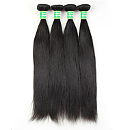 7A Brazilian Virgin Hair Straight Human Hair Weave 4 Bundles Straight Virgin Hair Brazilian Straight Weaves