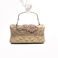 Women PU Poly urethane Formal Event Party Office Career Evening Bag Peacock Oval Circle Printed Leather Clutch Handbags
