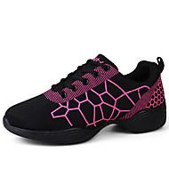 Niet aanpasbaar-Dames-Dance Schoenen(Zwart / Wit) - metPlatte hak- enLatin / Jazz / Danssneakers